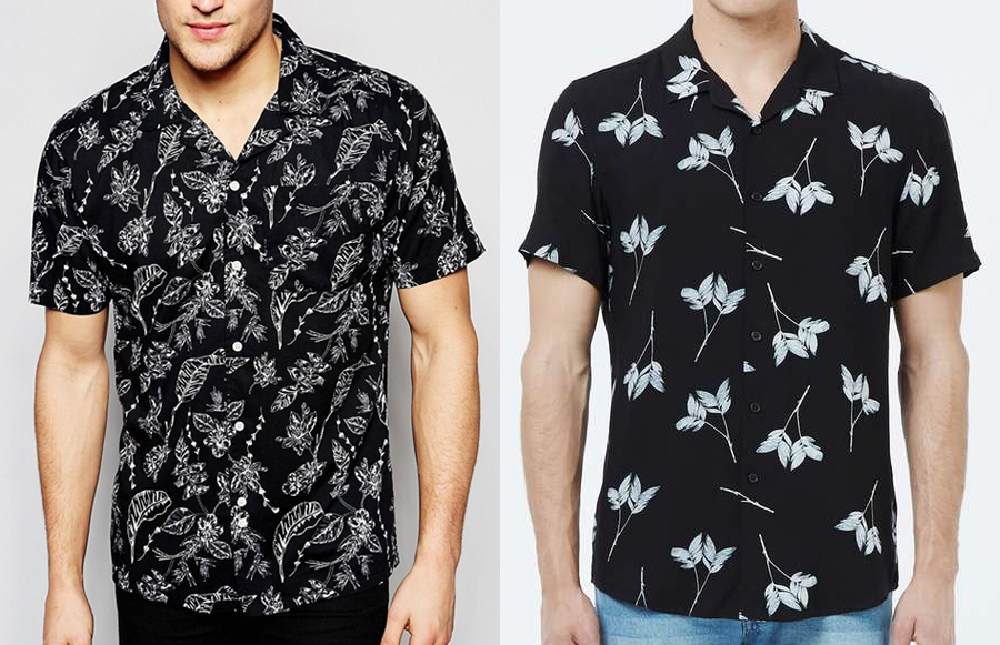 Black casual shirt (Left: ASOS £28, Right: Topman £30)