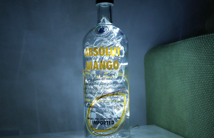5 things to do with your empty absolut vodka bottles for Things to do with empty liquor bottles